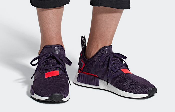 adidas NMD R1 Legend Purple Shock Red in Details ft