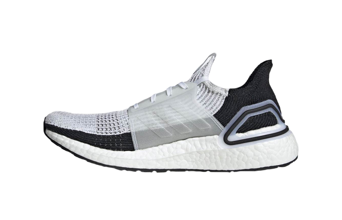adidas Ultra Boost 2019 White Black B37707 01