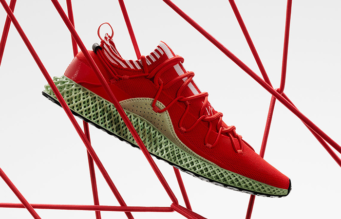 adidas Y-3 Futurecraft 4D To Drop In Red and Green Accent ft
