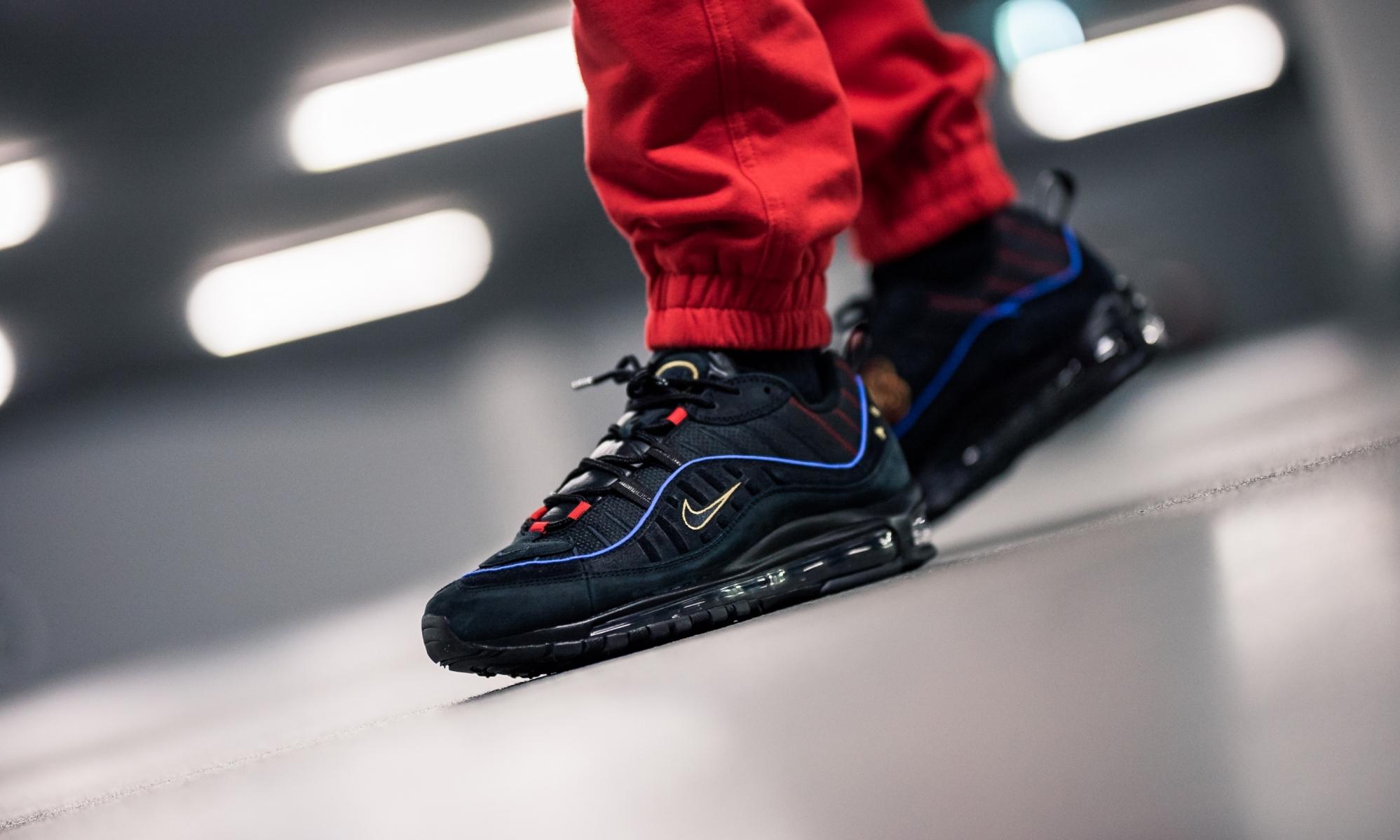 4d4b84059f Nike Air Max 98 Black Blue CD1537-001 – Fastsole