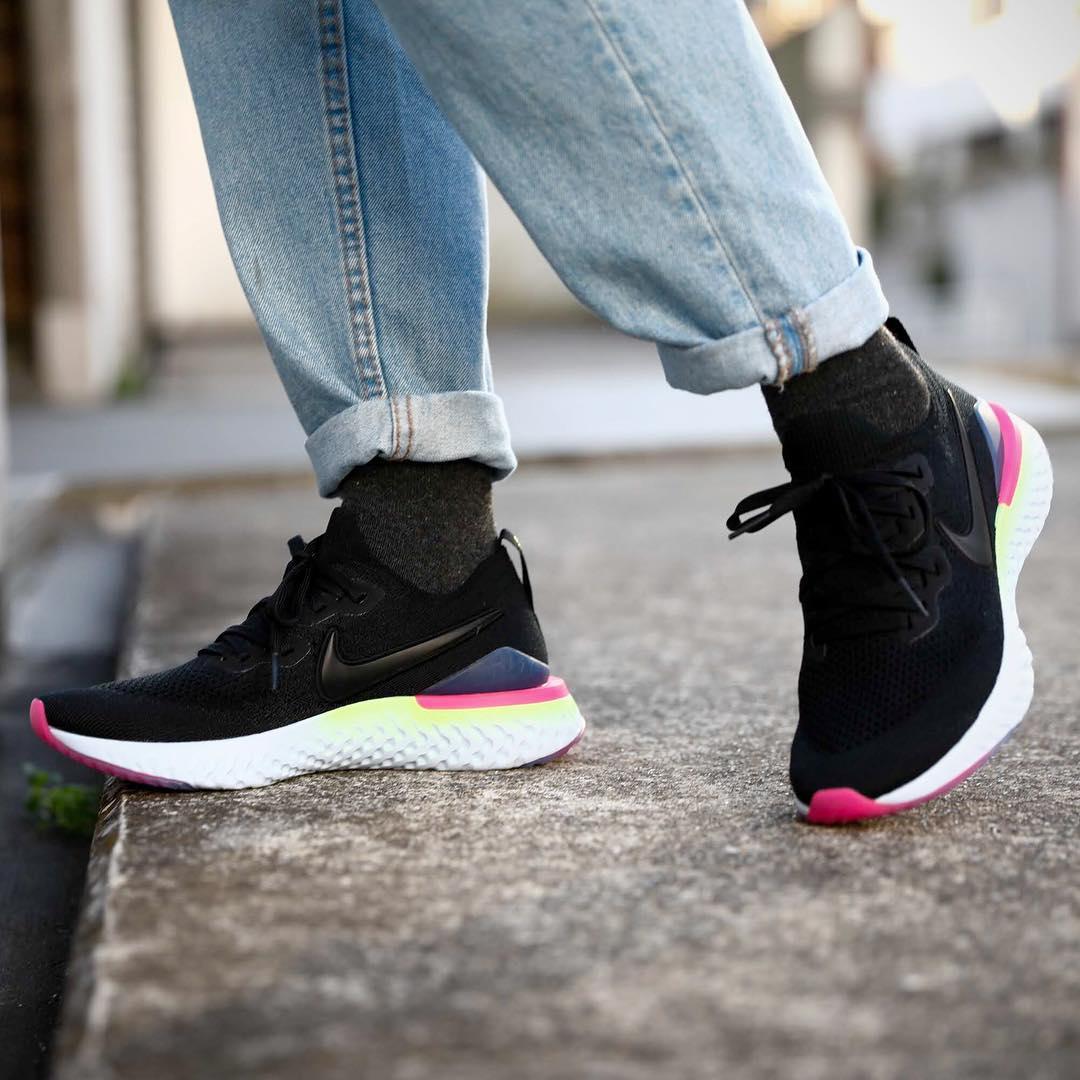 13350521aff25 Nike Epic React Flyknit 2 Black Pink BQ8928-003 – Fastsole