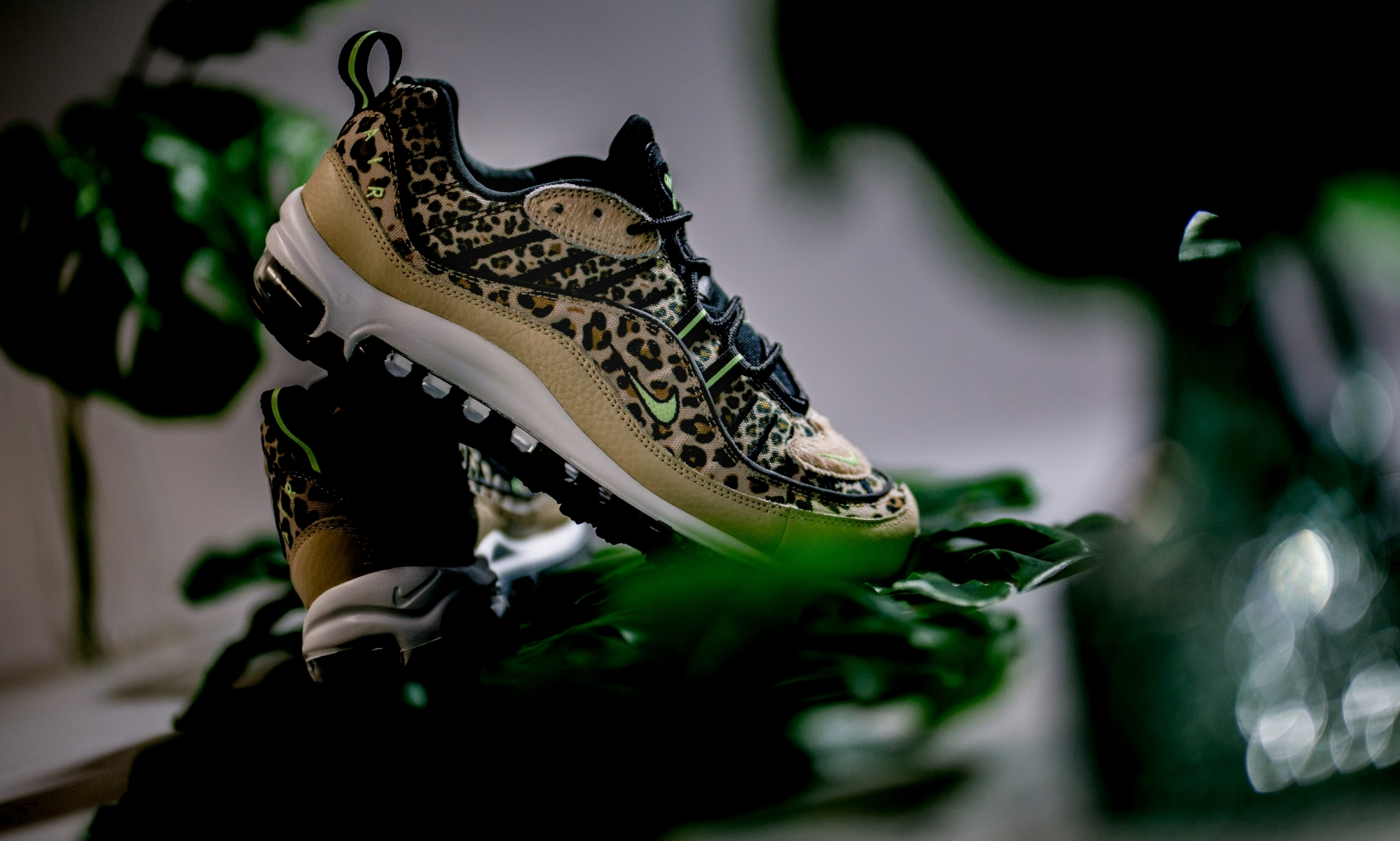Nike Leather Air Max 98 Leopard Print