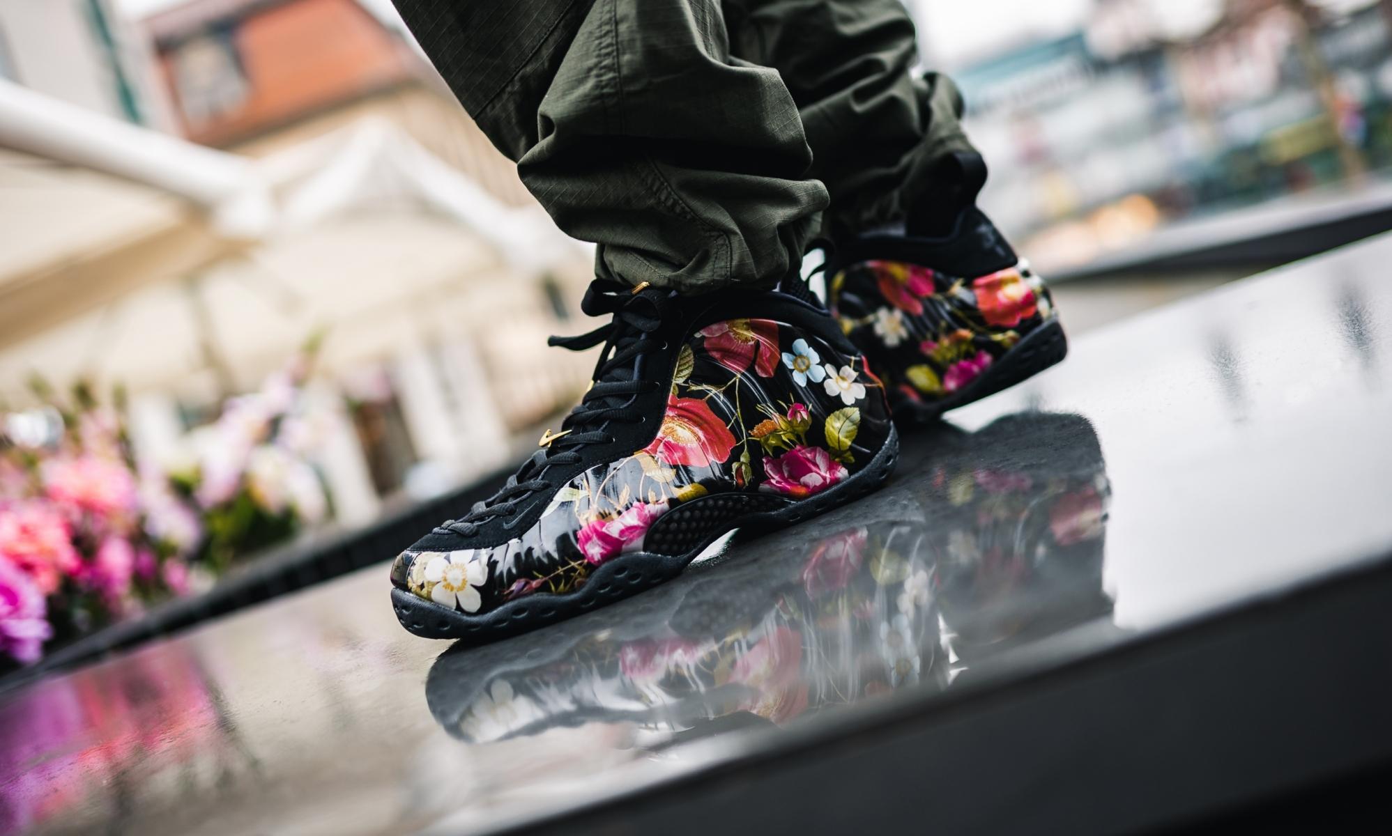 Nike Air Foamposite Oe Black Floral 314996-012