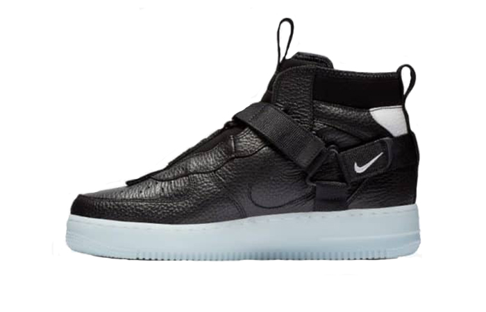 Nike Air Force 1 Utility Mid Black White AQ9758-001 01