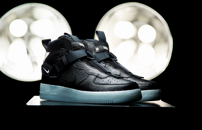 Nike Air Force 1 Utility Mid Black Wite AQ9758-001