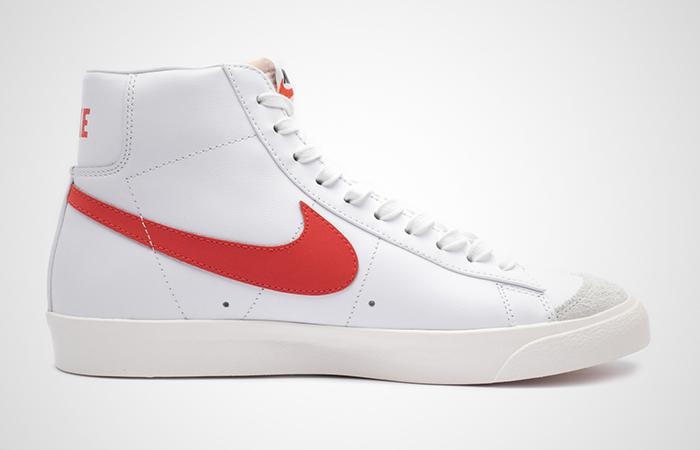 Nike Blazer Mid '77 Vintag White Red BQ6806-600