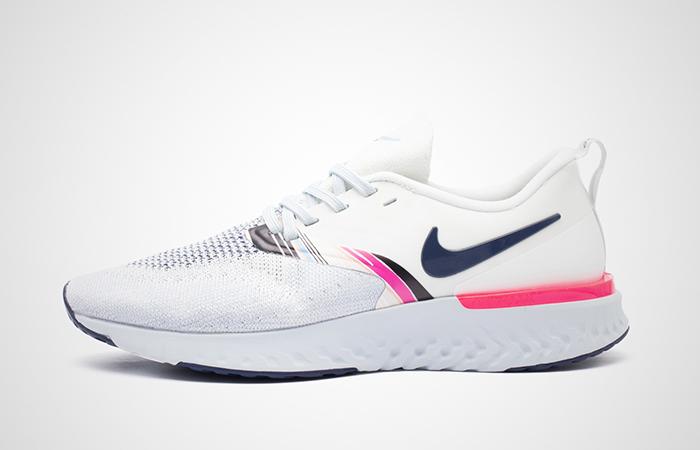 Nike Odyssey React 2 Flyknit Premium White Pink AV2608-146 02