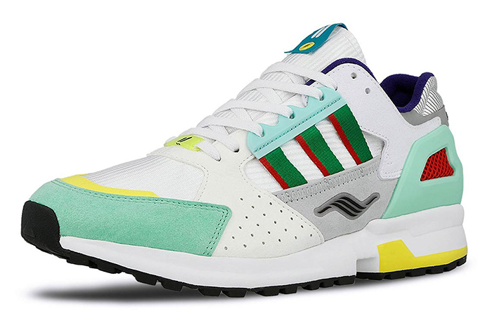 """Overkill adidas Consortium ZX 10.000C """"I Can If I Want"""" Pack White Geen EE9486"""