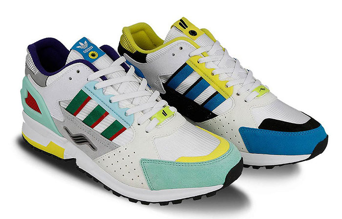 """Overkill adidas Consortium ZX 10.000C """"I Can If I Want"""" Pack Wte Green EE9486"""