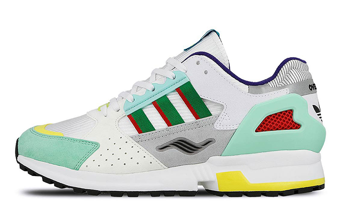 """Overkill adidas Consortium ZX 10.000C """"I Can If I Want"""" Pck White Green EE9486"""