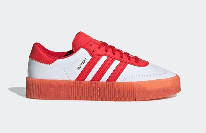 adidas Fiorucci Sambarose Red White Wmens G28913