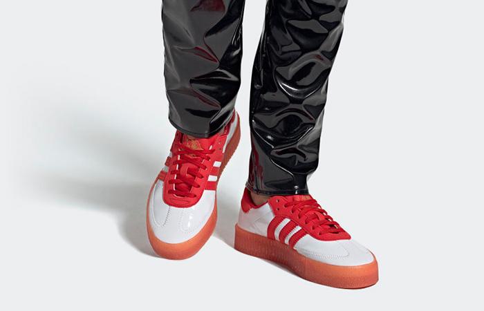 adidas Fiorucci Sambarose Red White Womens G28913 02
