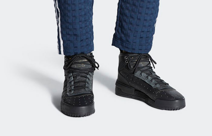 adidas Rivalry Hi Boost Triple Black AH2455 01