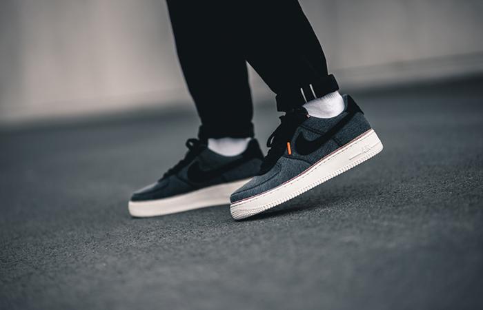 3×1 Nike Air Force 1 Premium Denim Black 905345 006