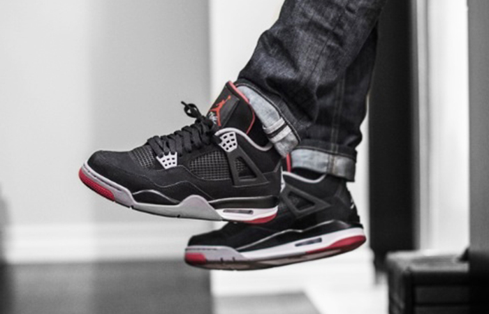 hot sales a5bde b9df2 ... Air Jordan 4 OG Bred 19 Black Red 308497-060 02 ...