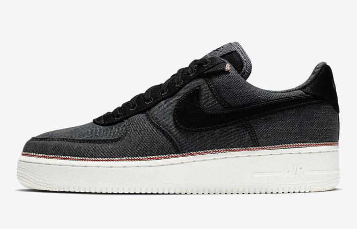 Nike Air Force 1 Premium Denim Black 905345-006 (1)