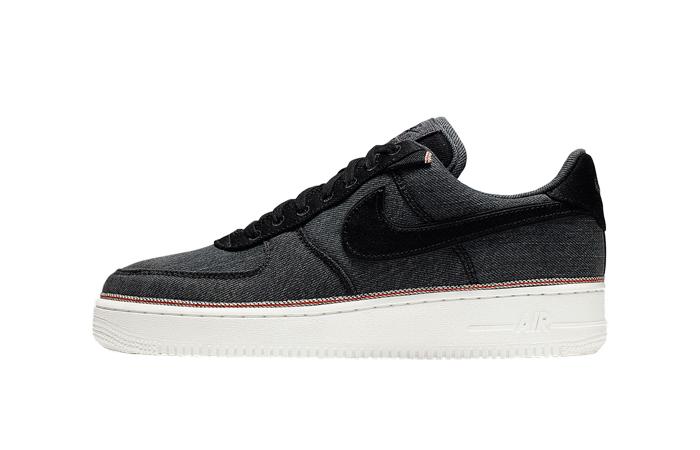 Nike Air Force 1 Premium Denim Black 905345-006 (2)