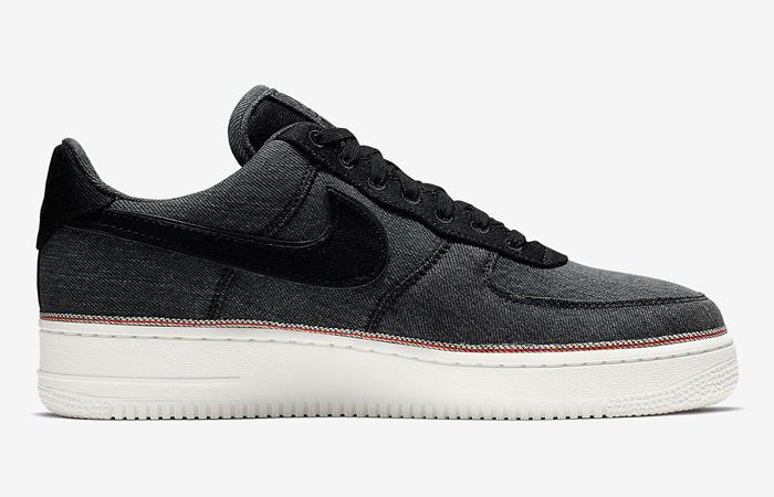 Nike Air Force 1 Premium Denim Black 905345-006 (3)