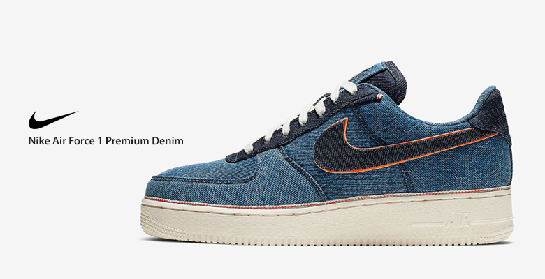 Nike Air Force 1 Premium Denim Blue 905345-403