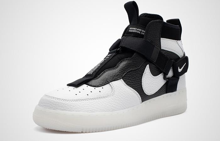 Nike Air Force 1 Utility Mid Black White AQ9758-100 02