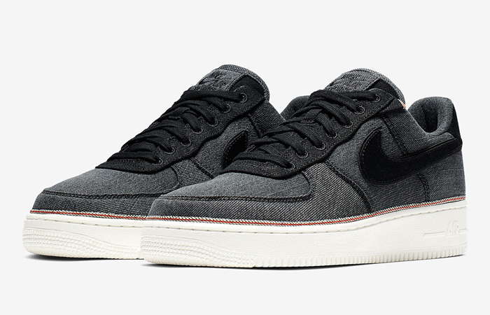 Nike Air Force 1 remium DeniBlack 905345-006