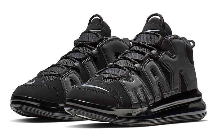 Nike Air More Uptempo 720 Triple Black BQ7668-001 02
