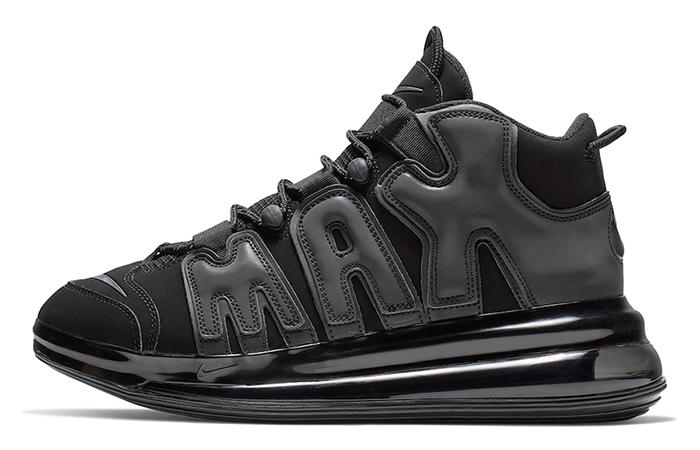 Nike Air More Uptempo 720 Triple Black BQ7668-001 03