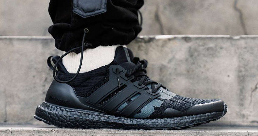 On Foot Look At The UNDEFEATED adidas Ultra Boost 1.0 Triple Black 01