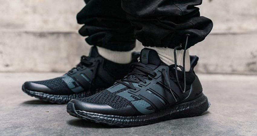 On Foot Look At The UNDEFEATED adidas Ultra Boost 1.0 Triple Black 02