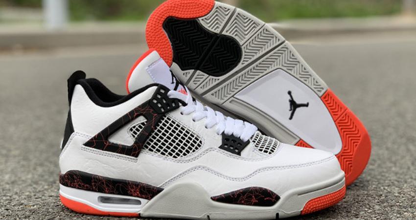 On Foot Look of Nike Air Jorda 4 Hot Lava