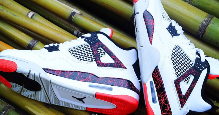 On Foot Look of Nike Air Jordan 4 Ho Lava