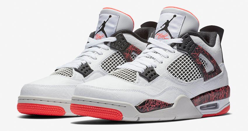 On Foot Look of Nike Air Jordan 4 Hot LaOn Foot Look of Nike Air Jordan 4 Hot La