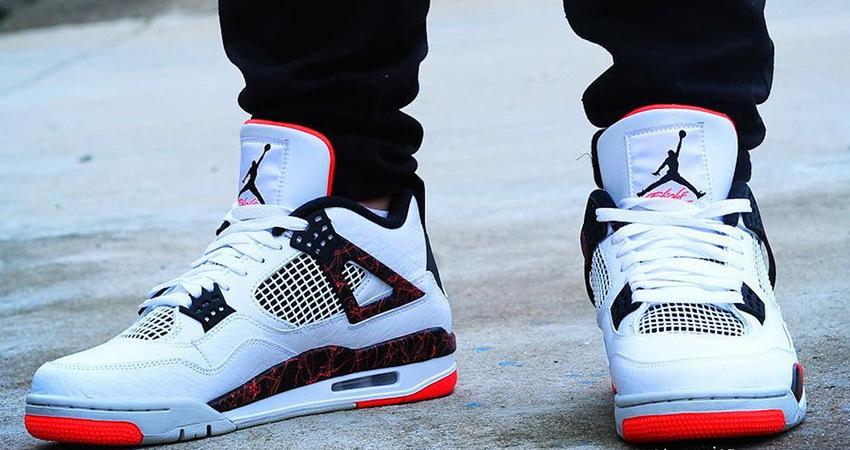 ab8fb48c7d6 On Foot Look of Nike Air Jordan 4 Hot Lava – Fastsole
