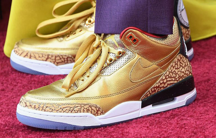 Spike Lee Uncovers The Golden Air Jordan 3 Tinker for Oscars Ft