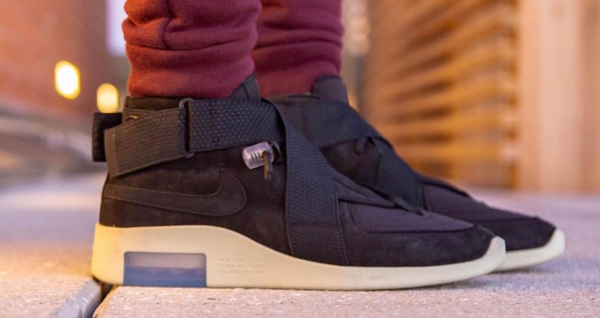 Here Is The Official Look Of Nike Air Fear of God 180 Black Fossil 02