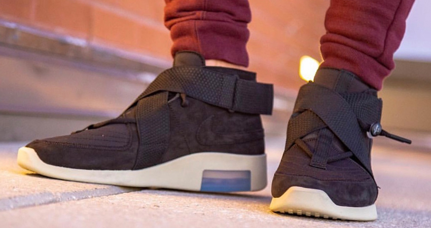 Here Is The Official Look Of Nike Air Fear of God 180 Black Fossil 03