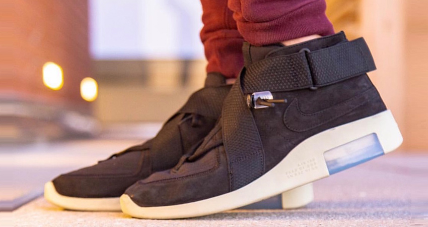 Here Is The Official Look Of Nike Air Fear of God 180 Black Fossil 04