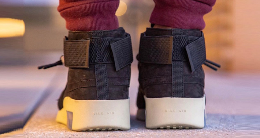 Here Is The Official Look Of Nike Air Fear of God 180 Black Fossil 05