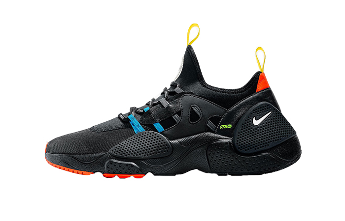 Heron Preston Nike Air Huarache EDGE Black 01