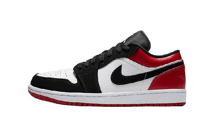 Jordan 1 Low Black Red 553558-116 01