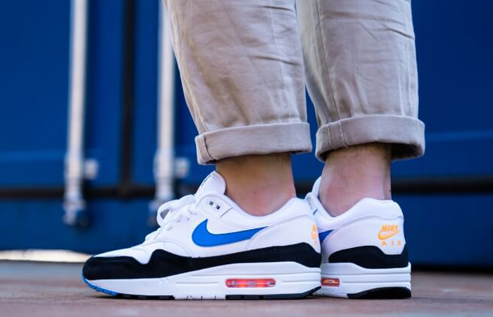 Nike Air Max 1 White Blue Orange AH8145 112 Info