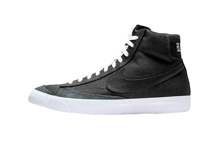 Nike Blazer Mid Black Canvas CD8238-001 01