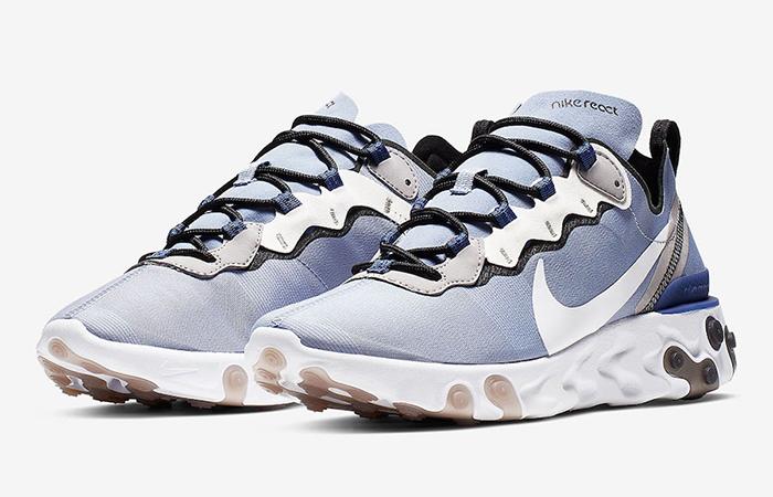 newest caa3f f3db1 ... Nike React Element 55 Light Navy BQ6166-402 03 ...