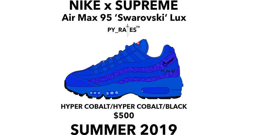 Supreme Is Coming A Worthy Collaboration Of Nike Air Max 95 Swarovski 02