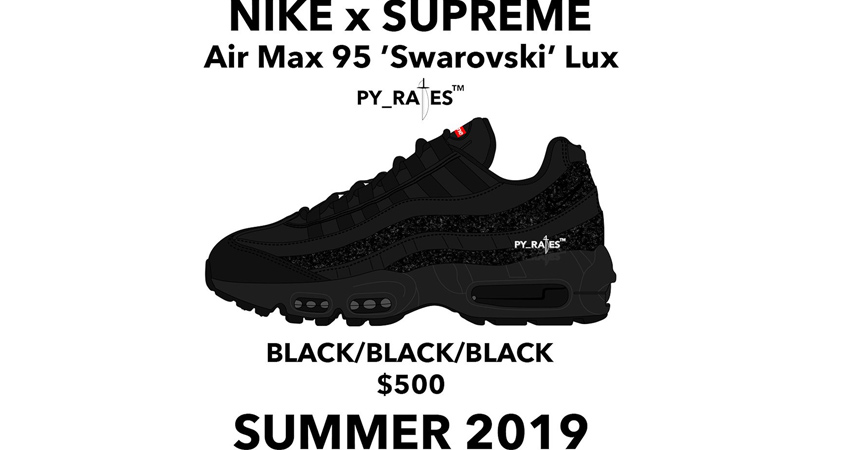 Supreme Is Coming A Worthy Collaboration Of Nike Air Max 95 Swarovski 03