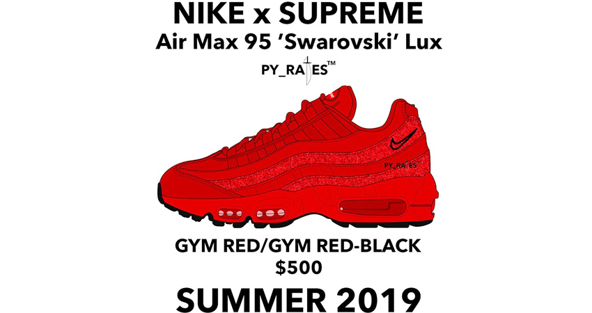 Supreme Is Coming A Worthy Collaboration Of Nike Air Max 95 Swarovski 04