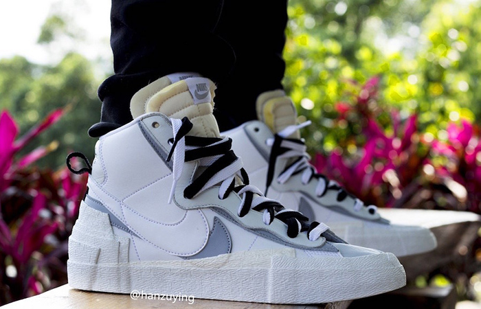 The Sacai Nike Blazer Mid Coming In a Wolf Grey Colourway ft