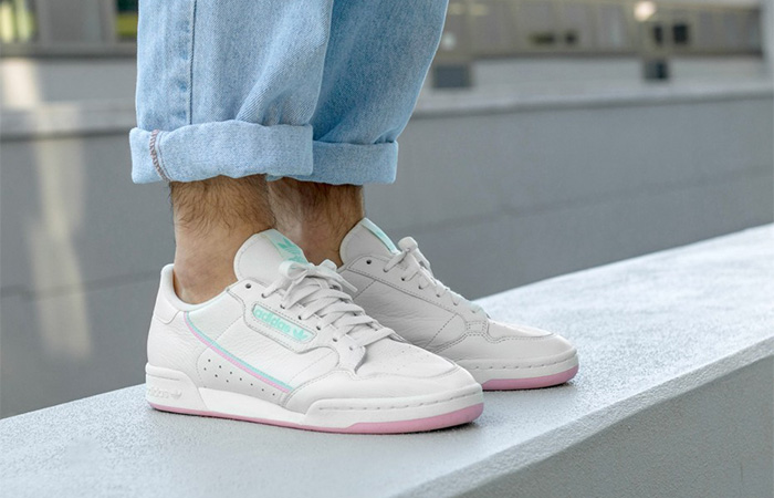 eeeeccfb7bd adidas Continental 80 Off White Pink