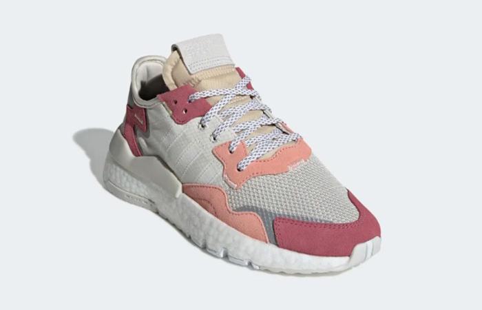 adidas Nite Jogger White Pink DA8666