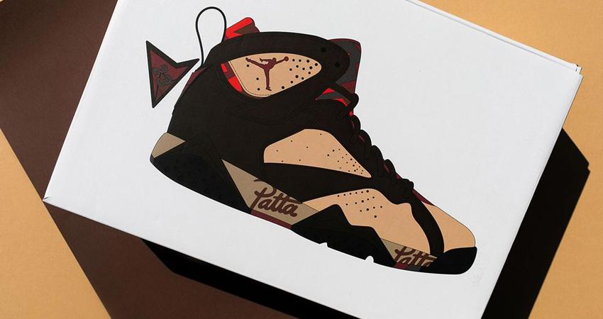 Closer Look At The Patta Air Jordan 7 Mahogany 02